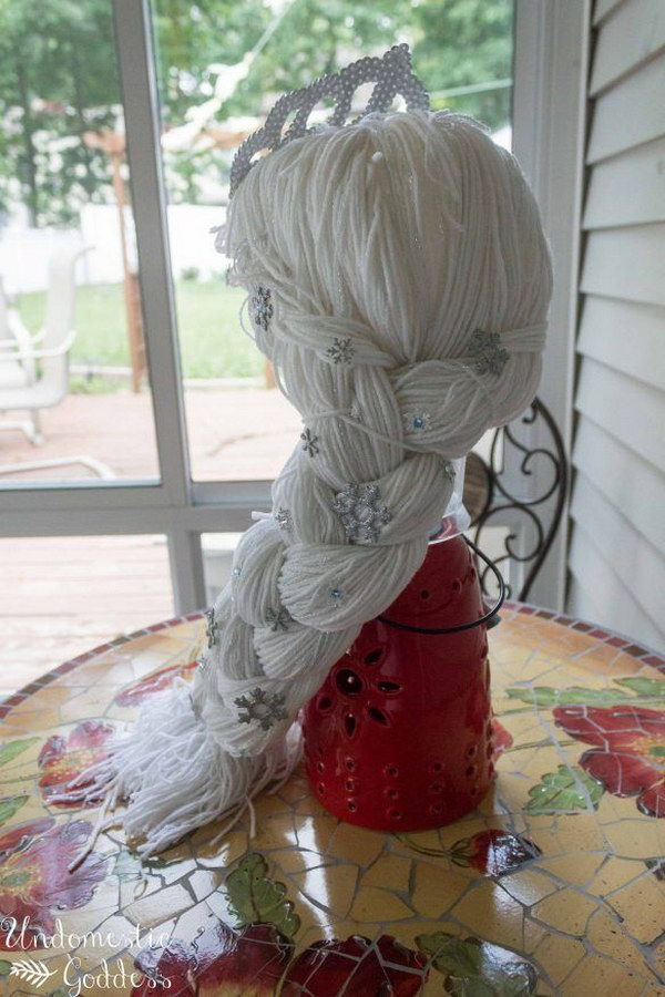 DIY Frozen Wig Hat. Easy to make!