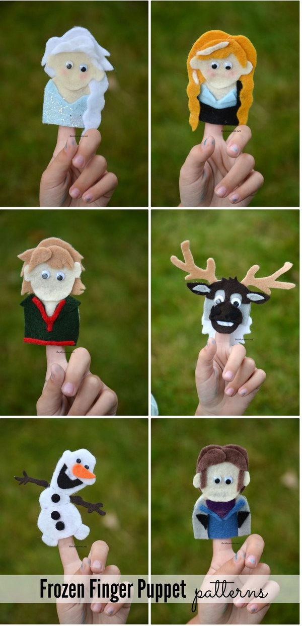 Frozen Finger Puppet Patterns.