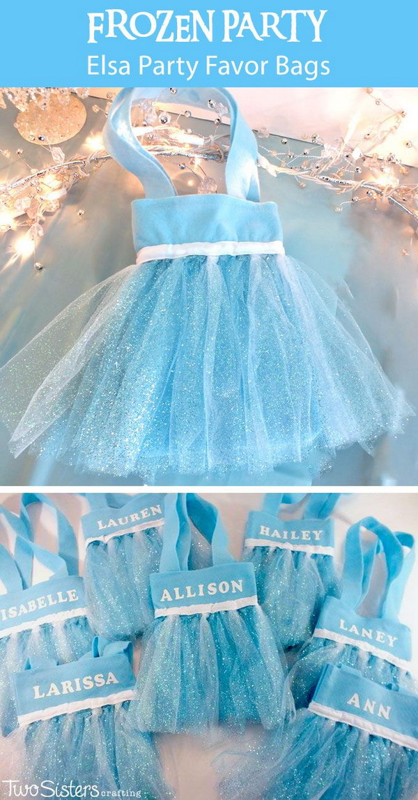 DIY Frozen Party Favor Bags.