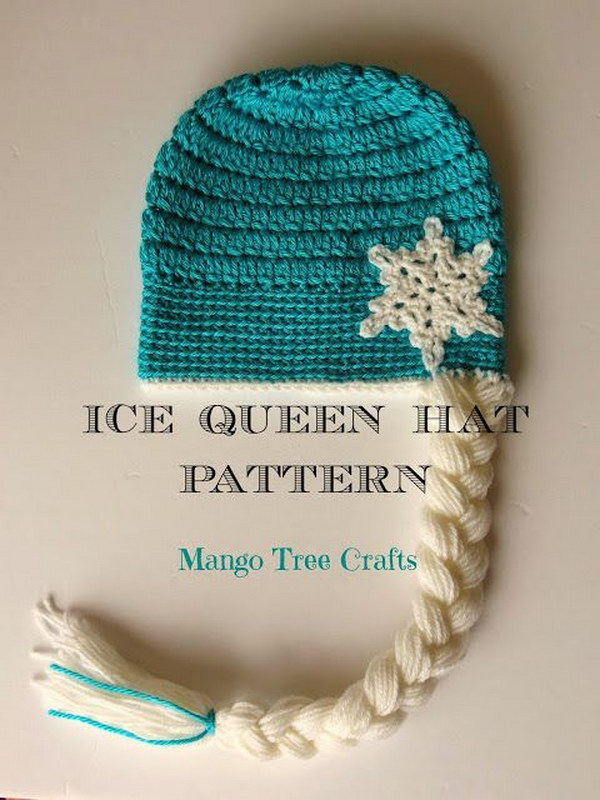 Crochet Hat Pattern For Elsa : 37 DIY Disney Frozen Inspired Crafts - Hative