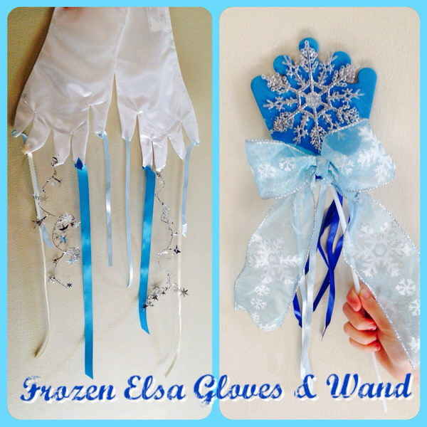 DIY Frozen Gloves and Wand
