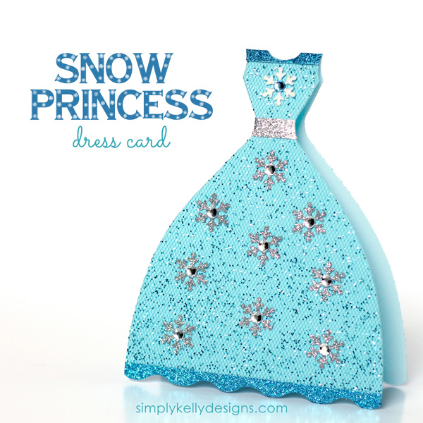 DIY Glittery Snow Princess Card.
