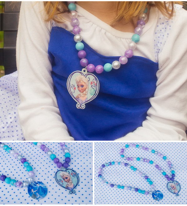 DIY Frozen Elsa Necklace