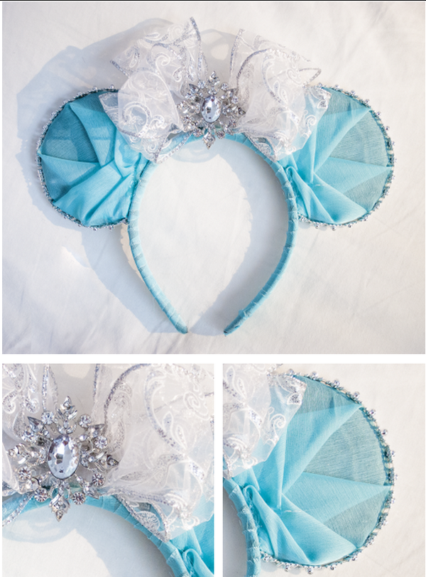 DIY Elsa Mickey Ears