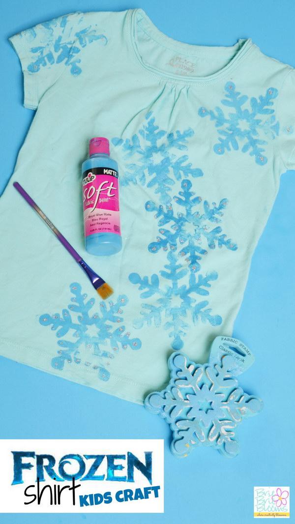 DIY Frozen Shirt for Kids.
