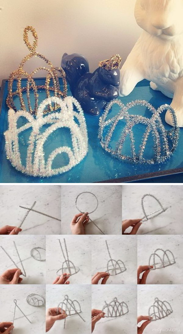 DIY Pipe Cleaner Crowns.