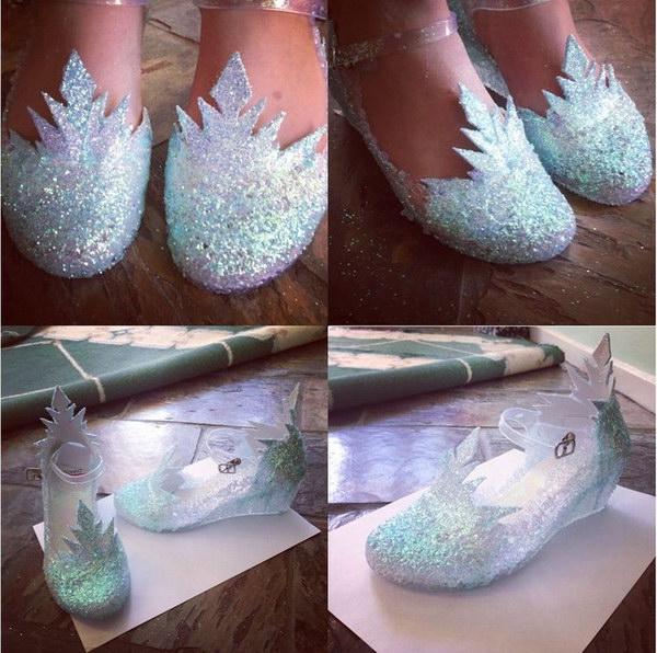 DIY Ice Queen Elsa Shoes