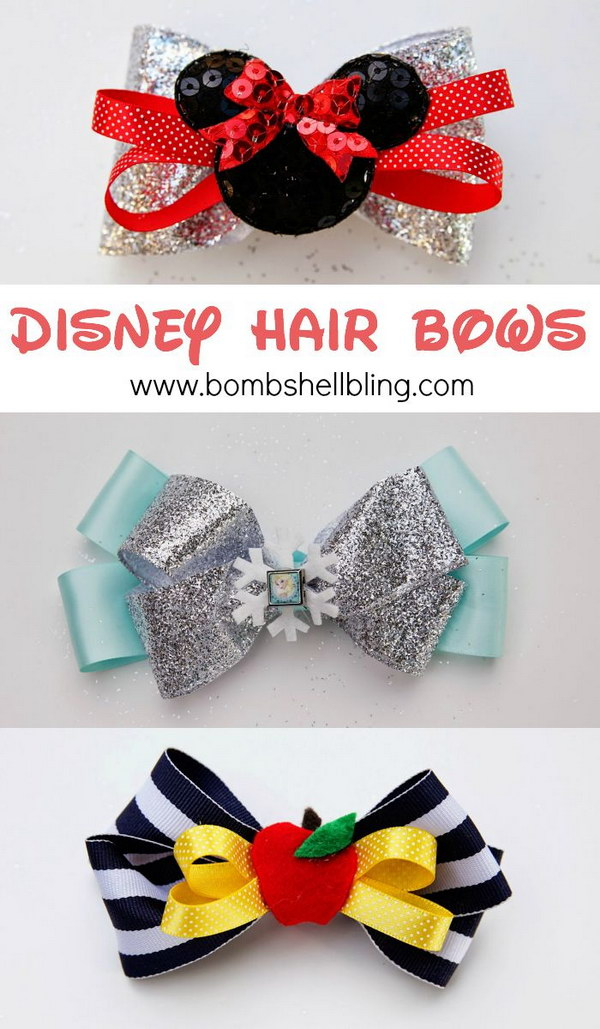 Frozen Elsa Hair Bow Tutorial