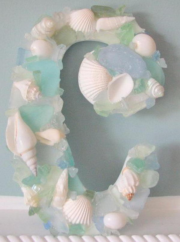 DIY Sea Glass and Sea Shell Letters