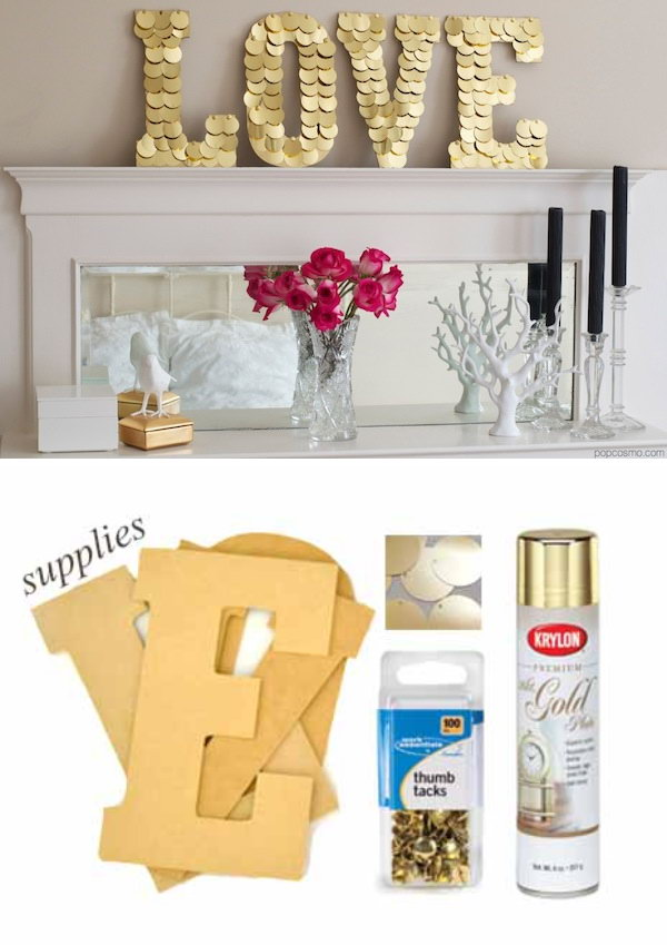DIY Sequin Letters Tutorial