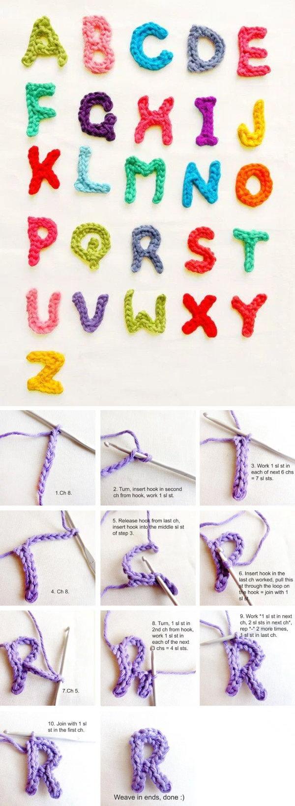 Crocheting Letters Tutorial : Crochet Letters