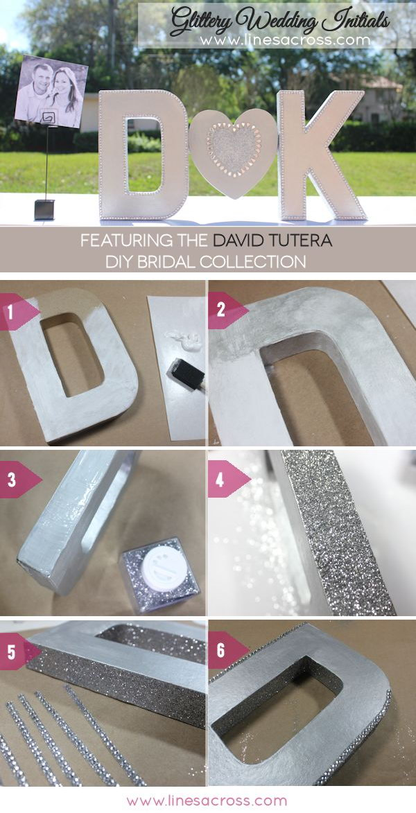 DIY Sparkling Metallic Wedding Letters Tutorial