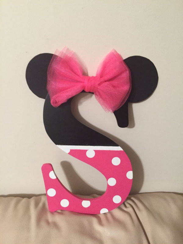 DIY Minnie Mouse Inspired Letter