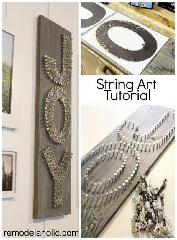 DIY String Art  Letters Tutorial