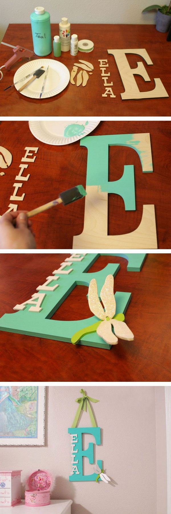 Painted Wooden Letter For A Kidsu0027 Room