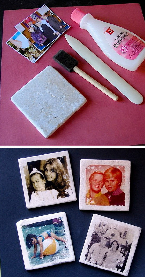 Easy DIY Custom Photo Coasters.