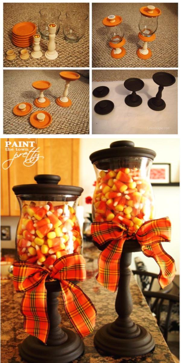 Fall Candy Corn Jars.
