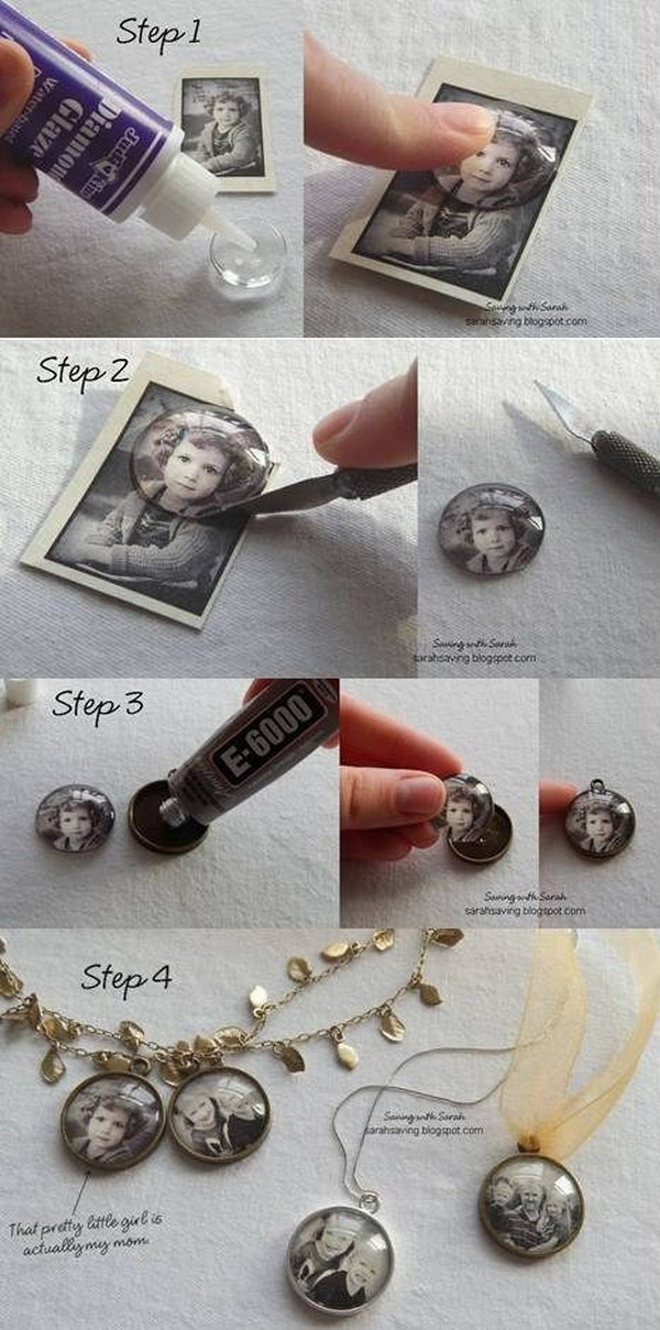 DIY Photo Pendant or Magnets.