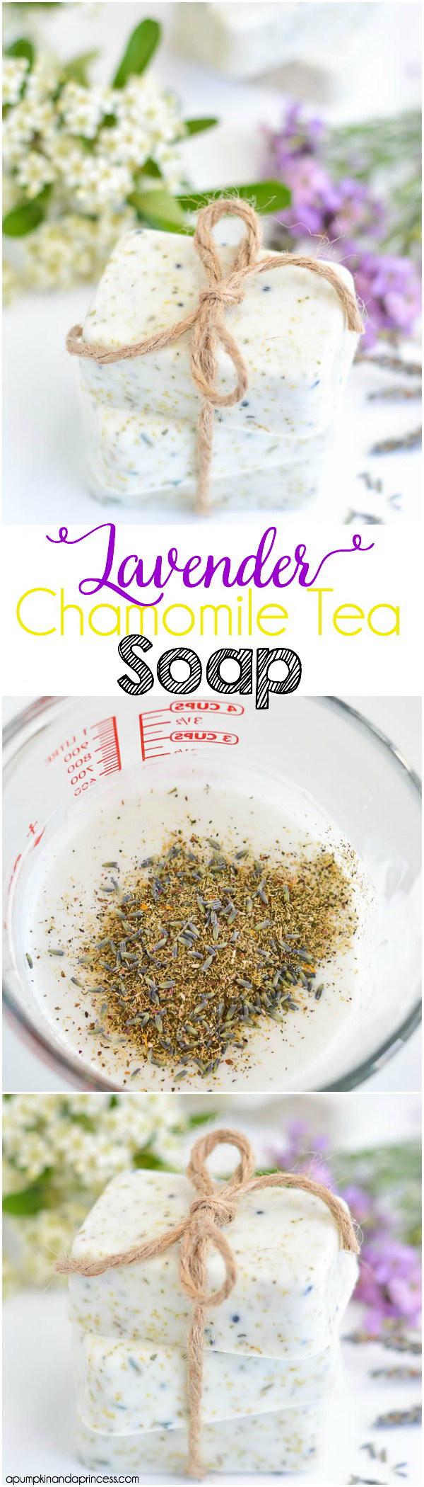 Lavender Chamomile Tea Soap.