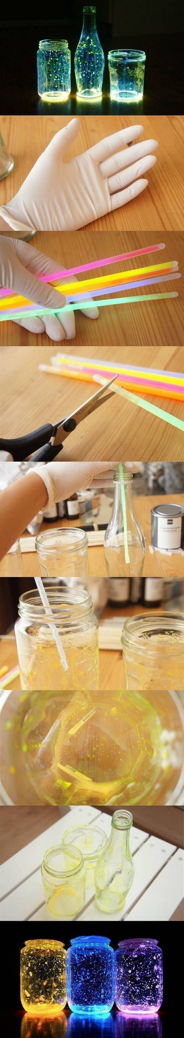 DIY Glow Mason Jars.