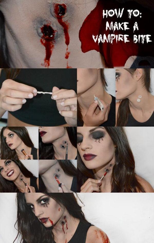 DIY Vampire Bite.
