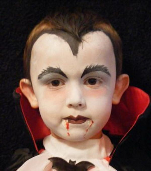 easy boys vampire face painting