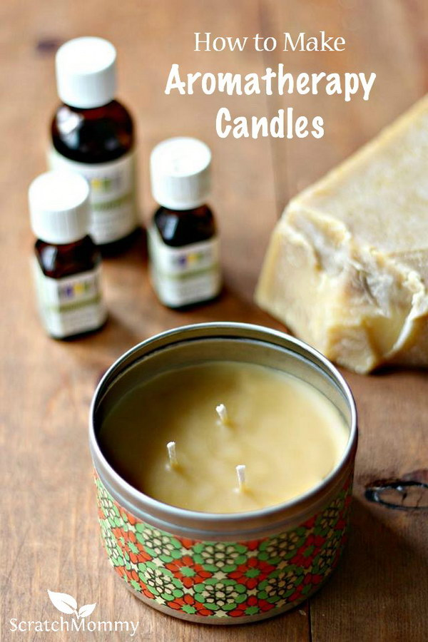 DIY Aromatherapy Candles. Aromatherapy is a great way to help with your physical, emotional and mental health. Make this aromatherapy candles for your families via the tutorial
