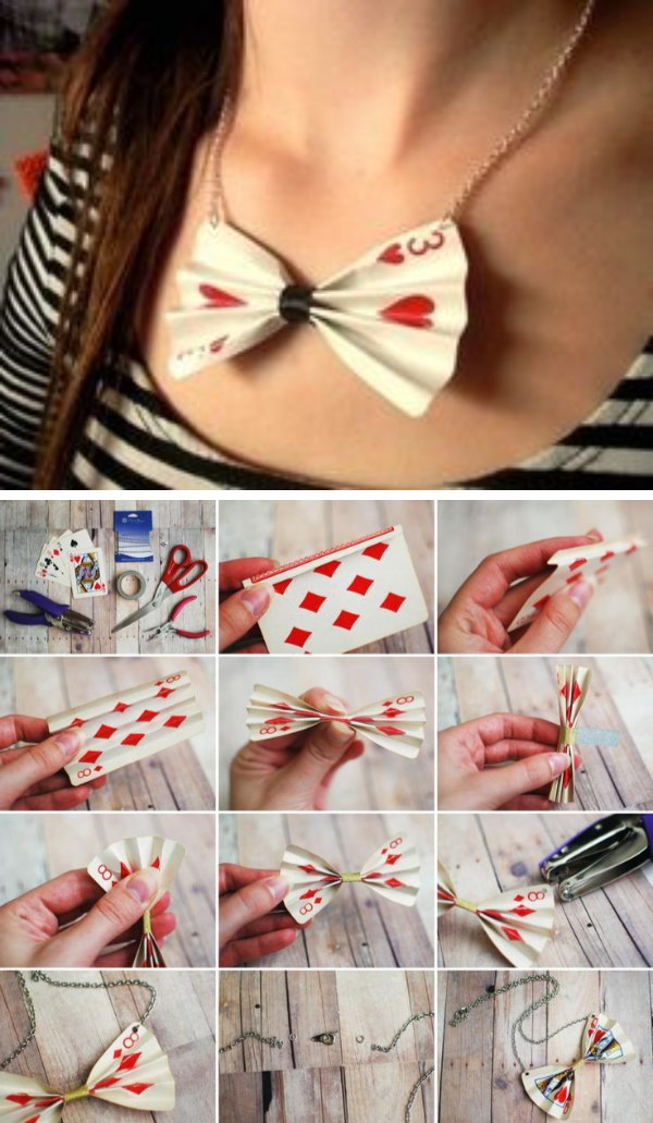 DIY Poker Card Necklace