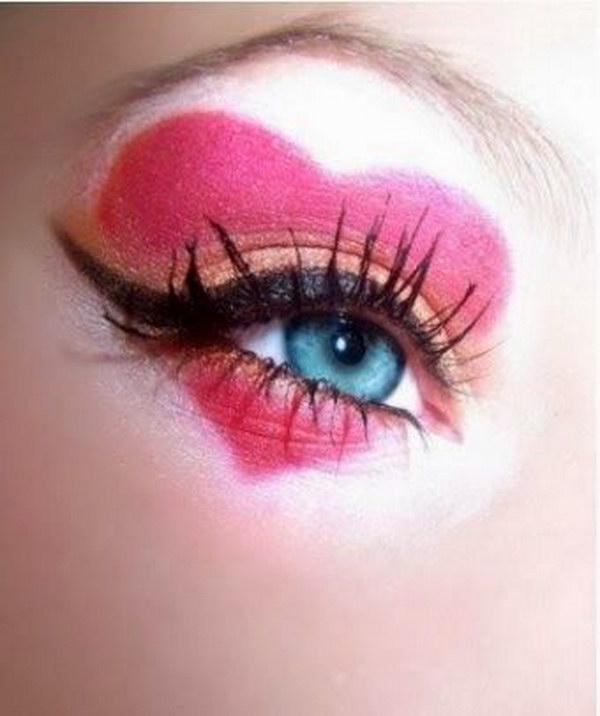 Rainha DIY de Maquiagem Corações Eye
