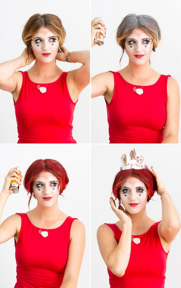 Easy DIY Queen of Hearts Using Makeup You Already Own