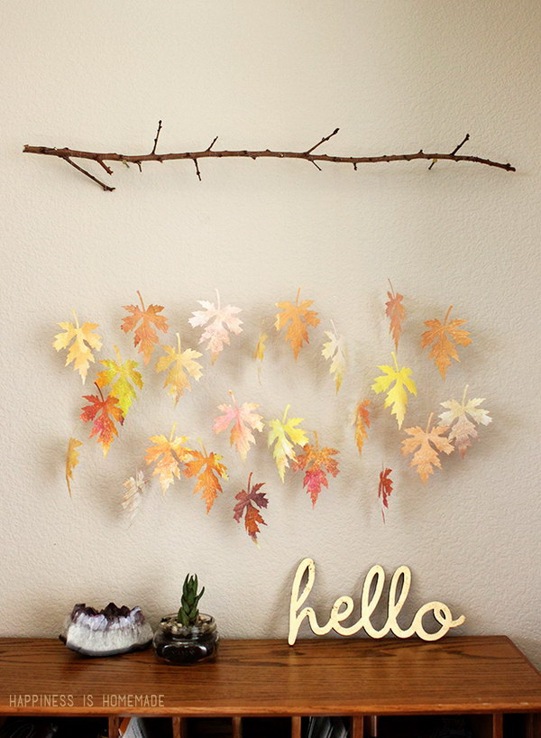 Diy crafts with fall leaves hative - Abonnement art et decoration ...