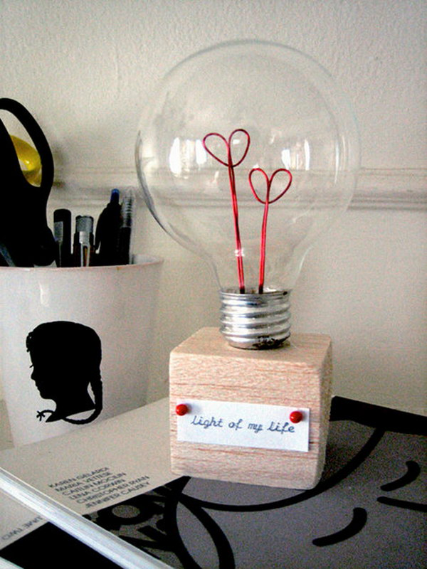 Diy Project Valentine Lightbulb A Way To Give Gift Your Mr