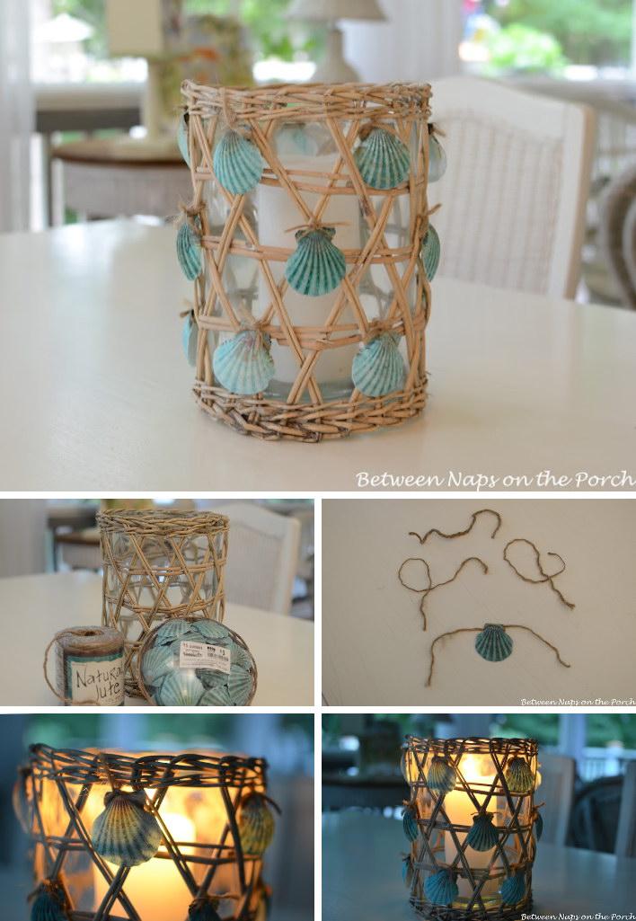 DIY Painted Seashell Lantern Tutorial