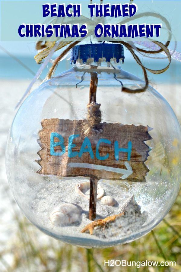 Beach Themed Christmas Ornaments
