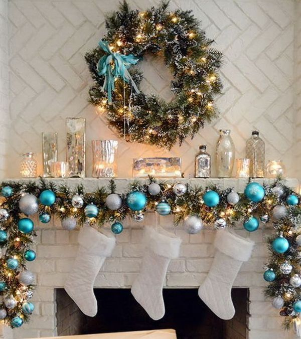 DIY Beachy Christmas Mantel