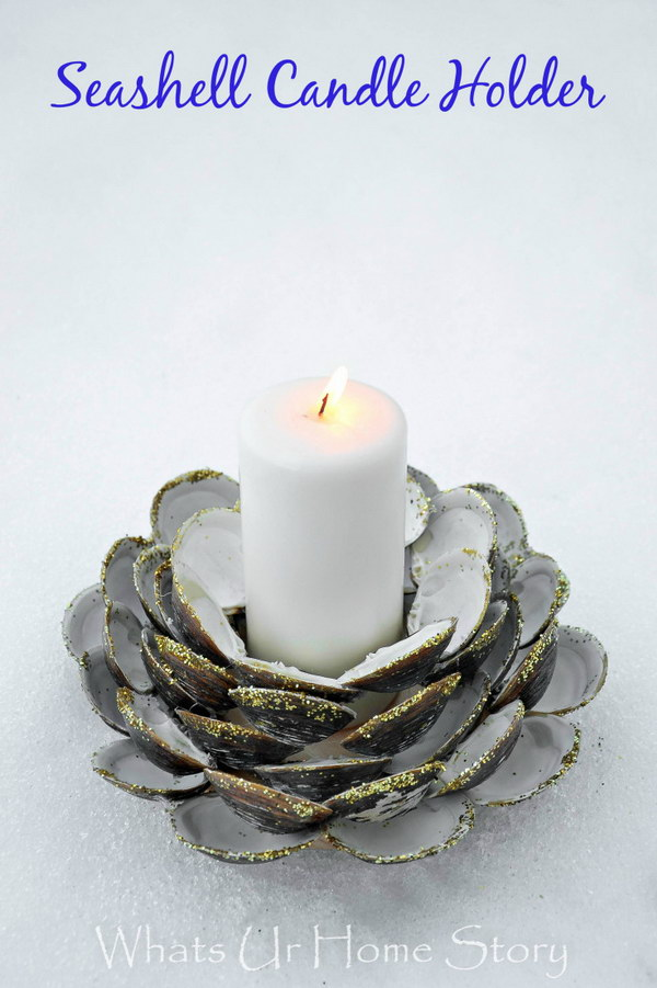 DIY Clam Shell Candle Holder