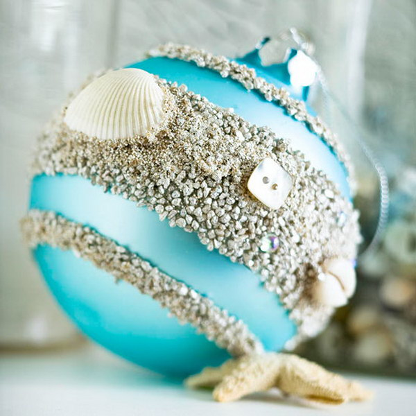 beach inspired christmas ornament