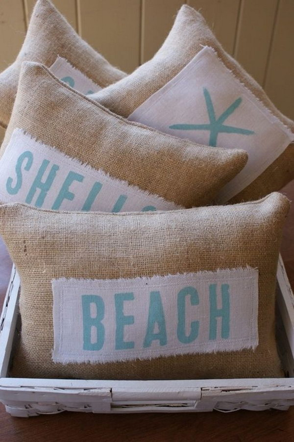 DIY Beach Themed Pillows