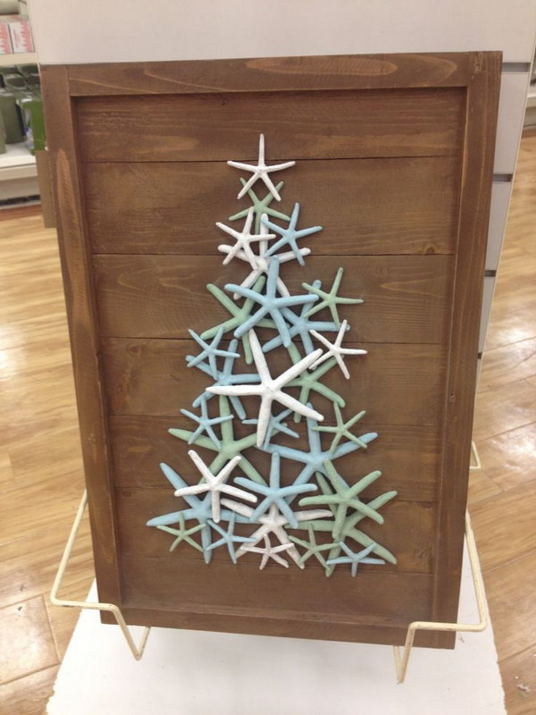 diy starfish christmas tree - Beach Themed Christmas Decorations