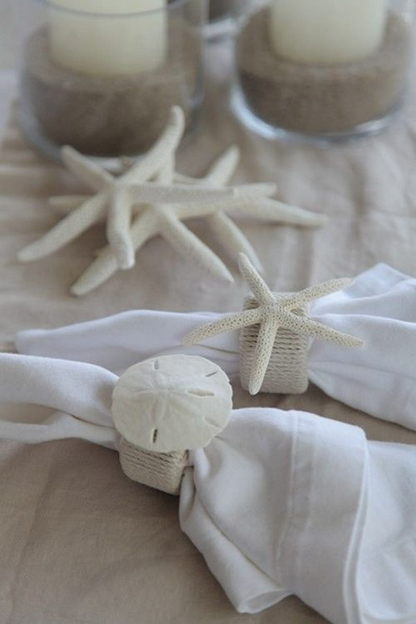 DIY Beachy Napkin Rings How to