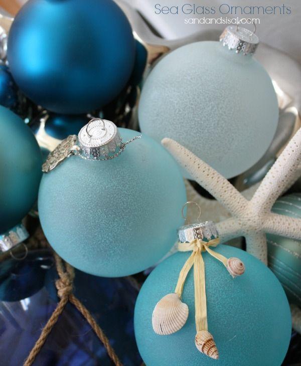 DIY Sea Glass Ornaments