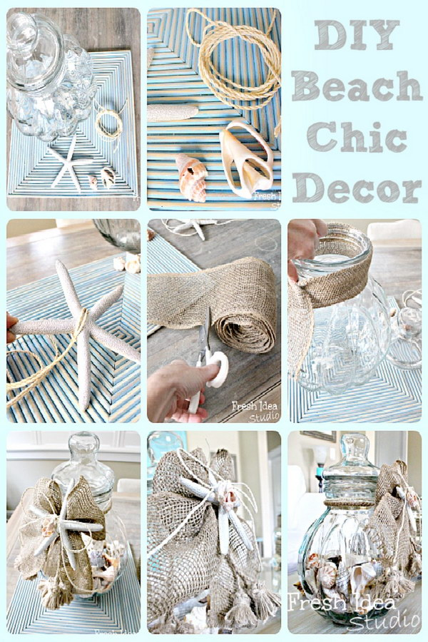 Diy beach inspired holiday decoration ideas hative for Summer beach house decor