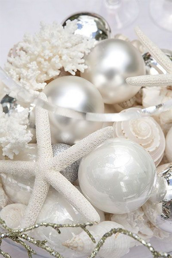 Christmas Decorations For The Beach House : Diy beach inspired holiday decoration ideas hative