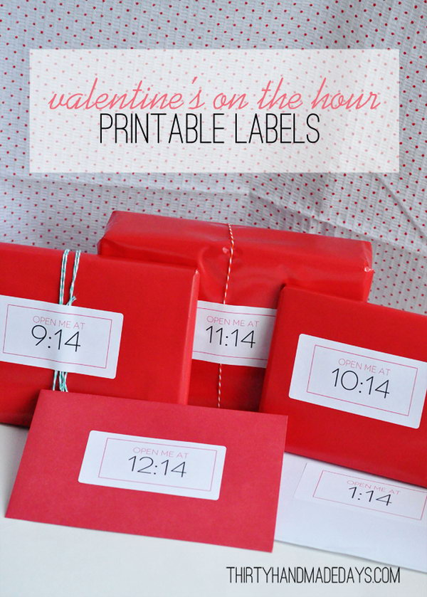 'On The Hour' Valentines Gift Envelopes.