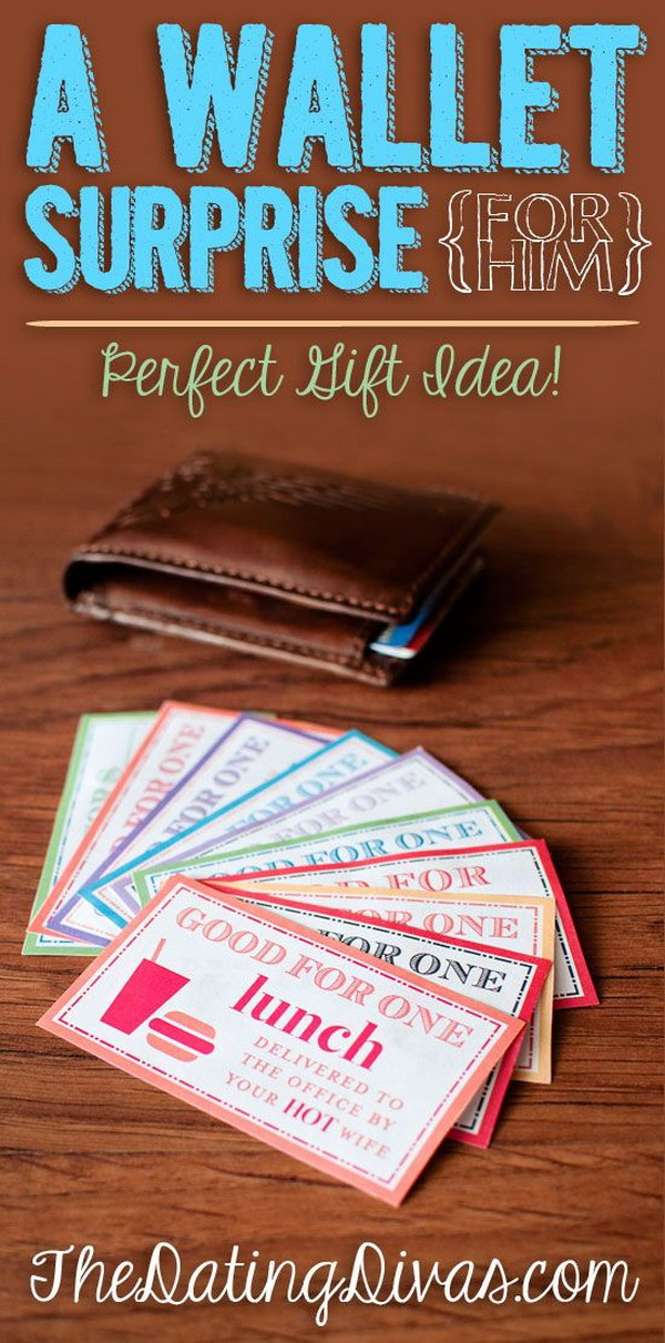 a wallet surprise your boyfriend is going to love this awesome surprise for him