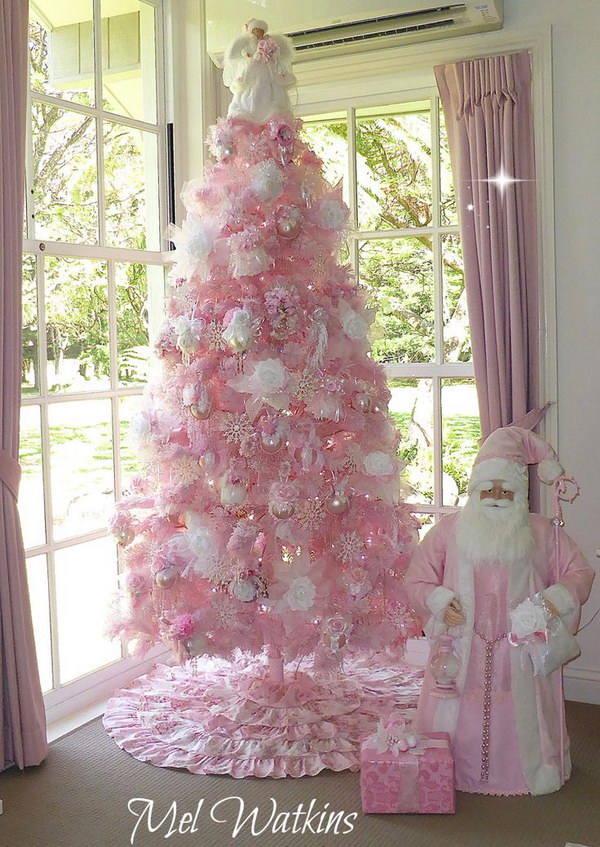 pink christmas tree - Pink Christmas Decorations Ideas