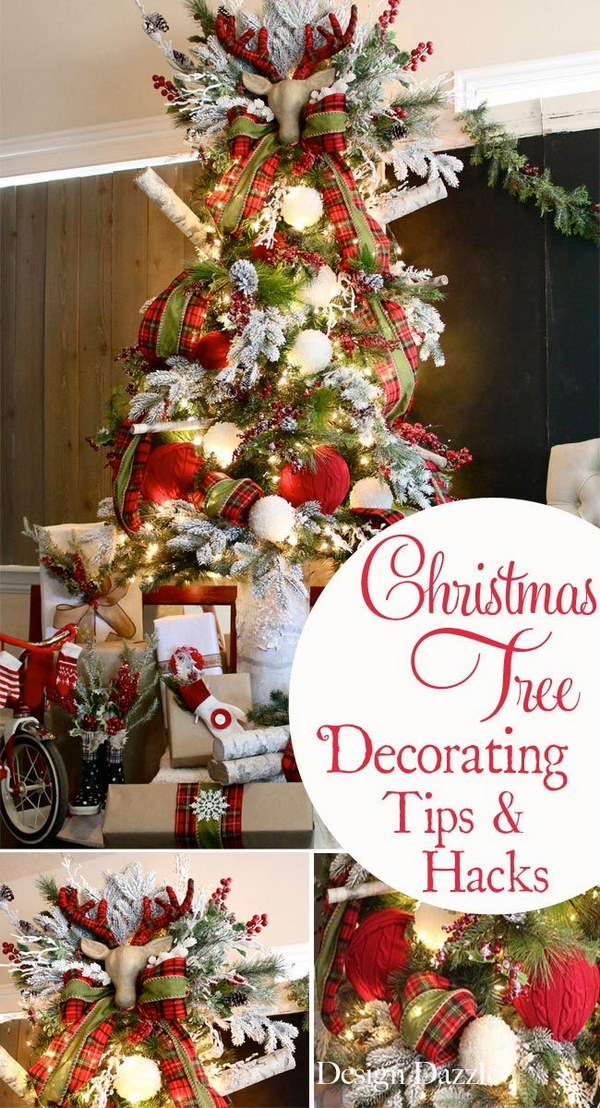 rustic plaid christmas tree tips and tricks - Plaid Christmas Tree Decorations