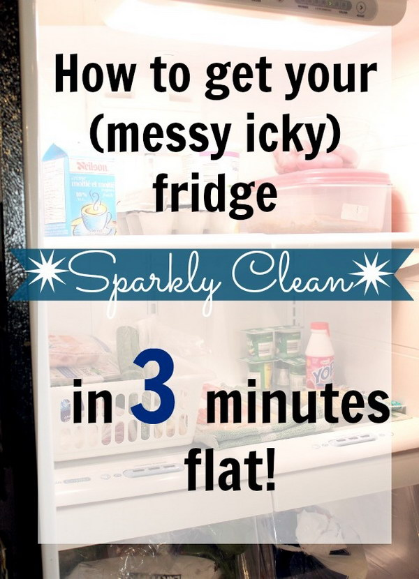 3 Minute Fridge Clean Up.