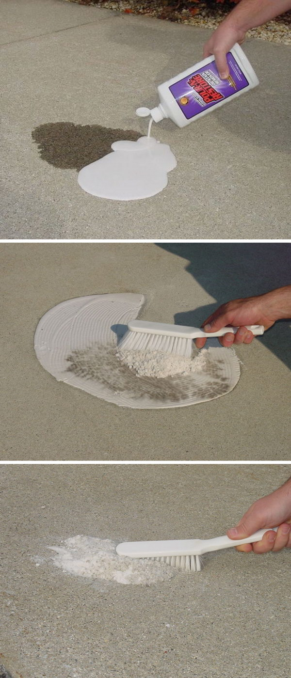 Cleaning Oil Stains on Your Driveway Easily.