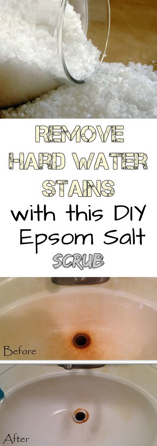Remove Hard Water Stains with This DIY Epsom Salt Scrub.